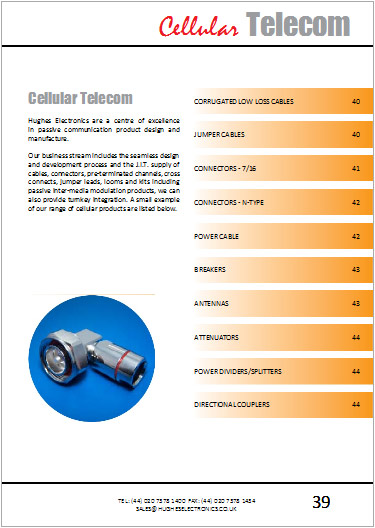 Catalogue cellular telecom section